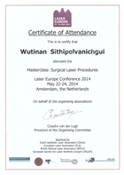 Masterclass : Surgical Laser Procedures, Laser Europe Conference 2014, Amsterdam, the Netherlands